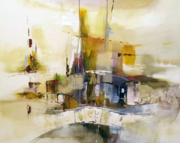 Joseph Capicotto Venice Canal Abstract 2