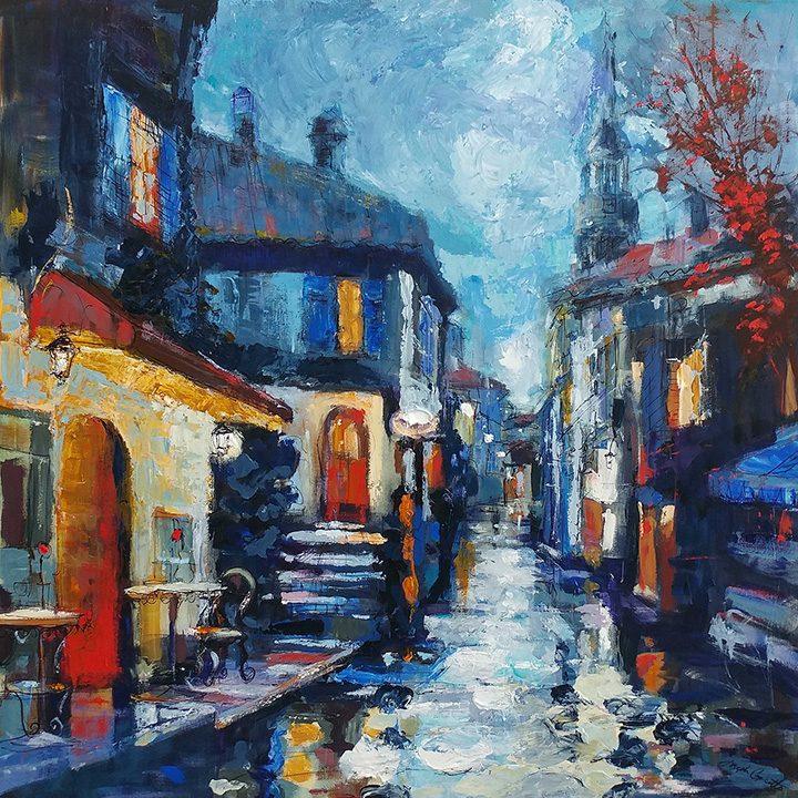 Evening Village Street
