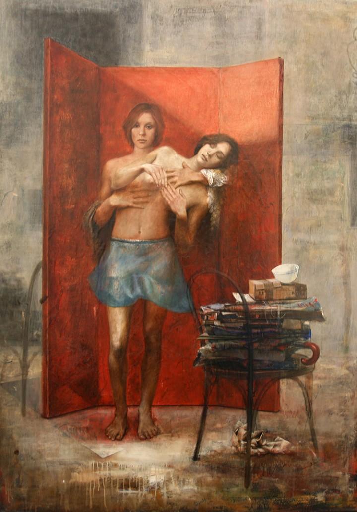 Ernesto Manera. Hug Series 4. 2004. Mixed Media